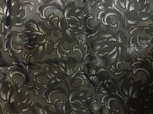 Черная парча шелк серебр. нити 3,5м