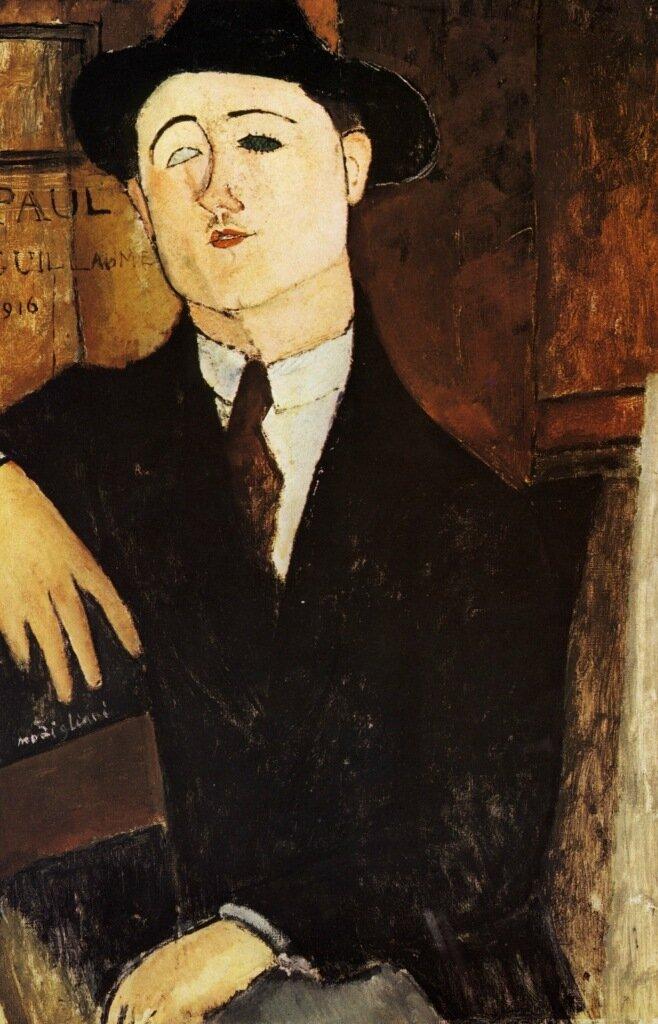 1916 Portrait de Paul Guillaume 81x54 cm  Milan Civicca Galeria d'Arte Moderna.jpg