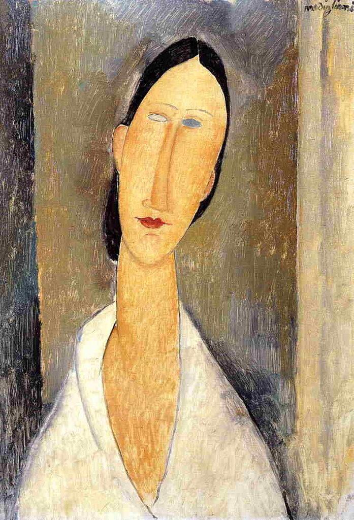 Hanka Zborowska - 1919 - PC  - oil on canvas - Height 55 cm (21.65 in), Width 39 cm (15.35 in).jpeg