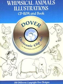 Книга Dover Publication: Whimsical animals Illustrations