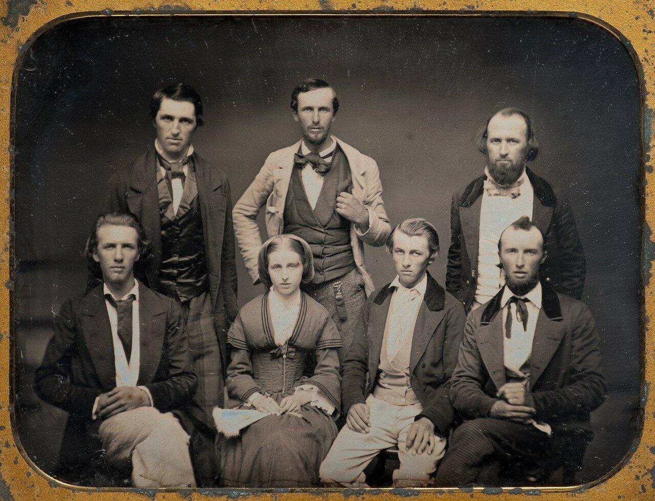 1850-е. Семья. Рочестер, Нью-Йорк