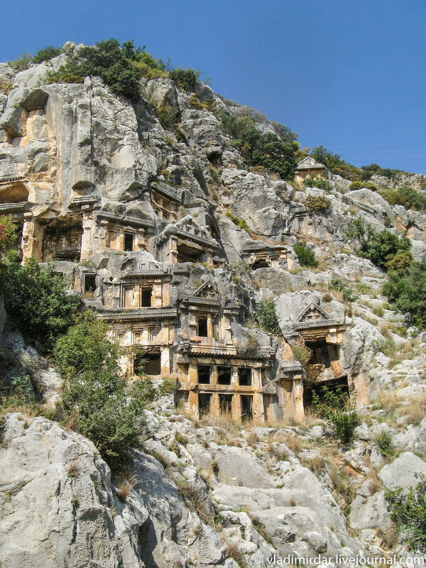 Ликийские скальные гробницы в Мире (Демре)