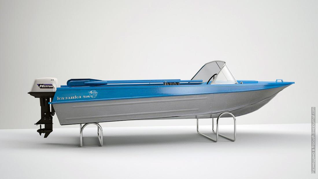 моторная лодка Казанка компьютерная 3D модель
