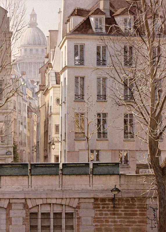 La rue de Bièvre et le Panthéon