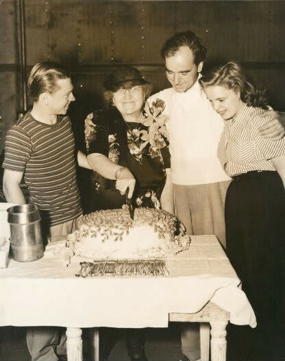 Ma Gertrude Berkeley celebrates her birthday with Mickey Rooney,son Busby and Judy Garland at MGM (2).jpg