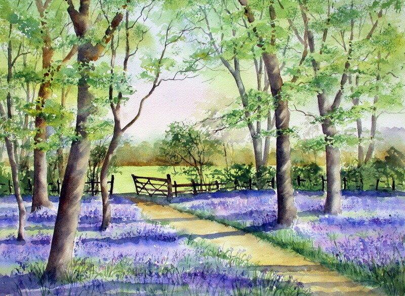 Акварели весны в ласке теплого ветра...Ann Mortimer