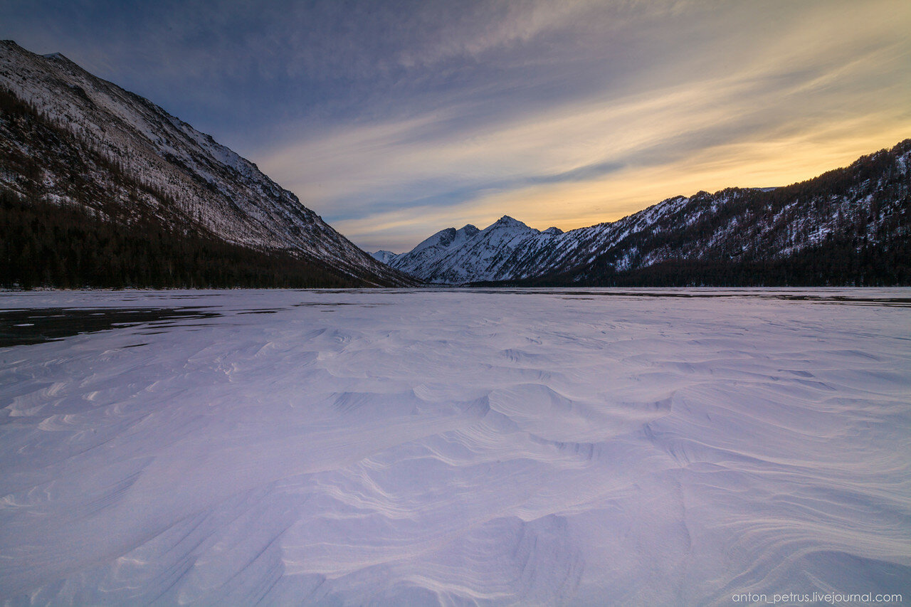 Зимний Алтай. Озеро Мульта