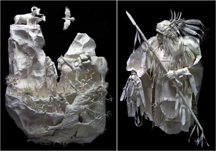Удивительные скульптуры из бумажной массы 0 115b68 77582dac orig