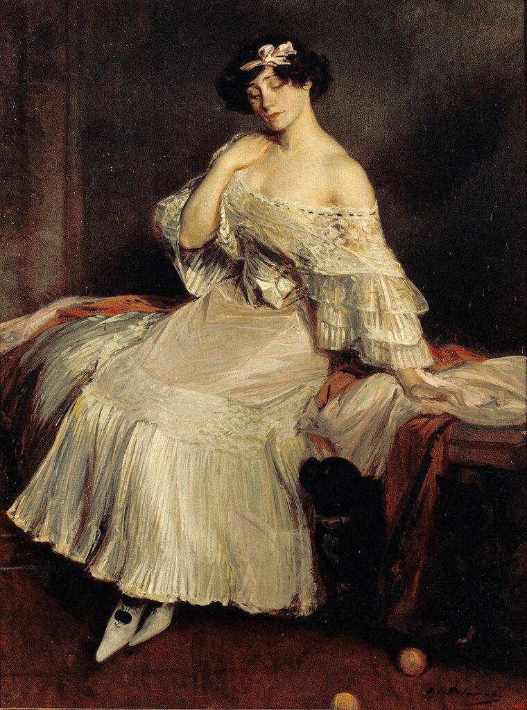 Blanche, Jacques-Emile - Портрет романистки Колетт, ок. 1905, 158 cm x 118 cm, Холст, масло.JPG