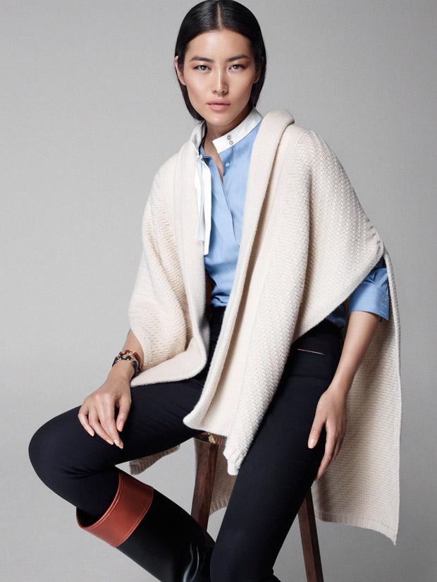 Лю Вэнь (Liu Wen) в рекламной фотосессии для Massimo Dutti Equestrian