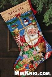 Журнал Dimensions 8818 Santa's Toys Stocking