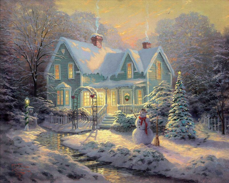 Картинка сказочного зимнего домика
