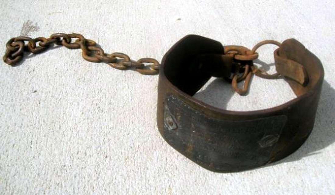 Ошейник североамериканского раба, изготовленный в 1840-х годах (1)