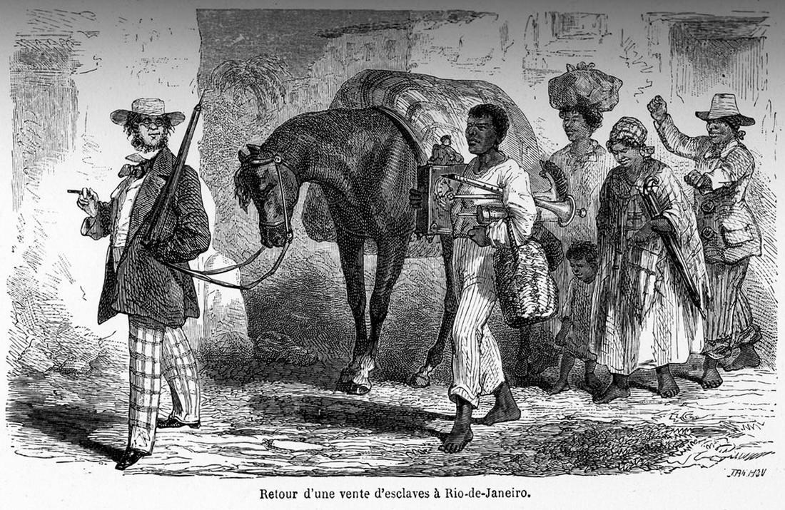 Возвращение рабовладельца с аукциона по продаже рабов в Рио-де-Жанейро (1862 год)