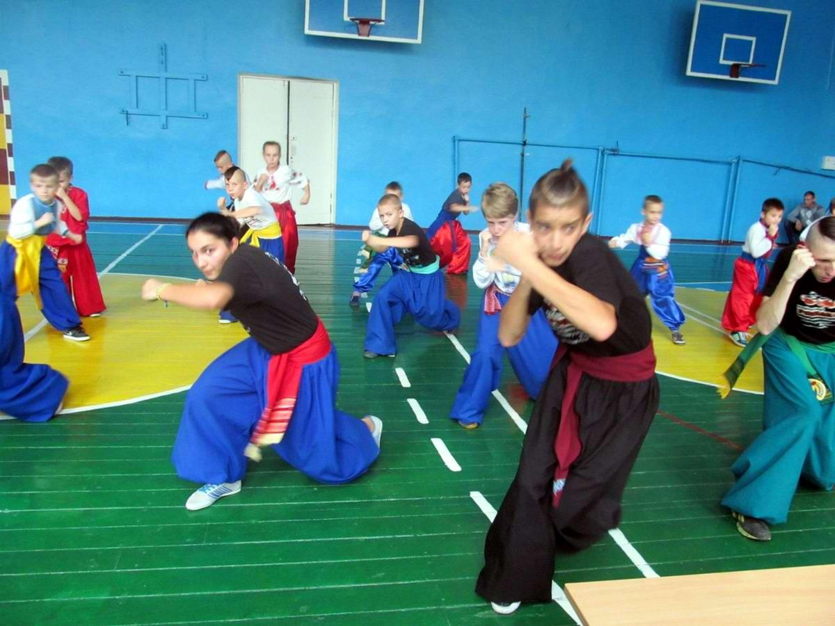Квалификационный групповой экзамен в школе боевого гопака города Нетешин (Хмельницкая область) (19)