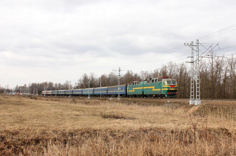 ЧС7-058 на станции Колпино