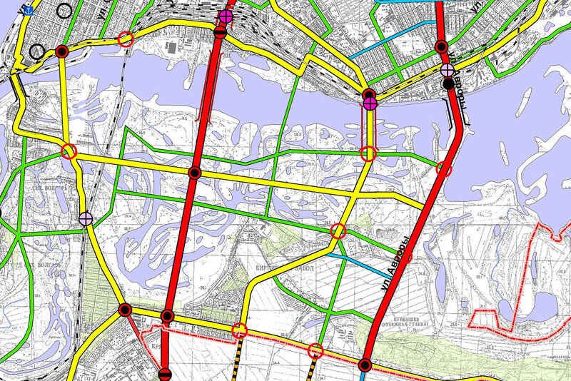 схема развития автомобильных дорог Самары
