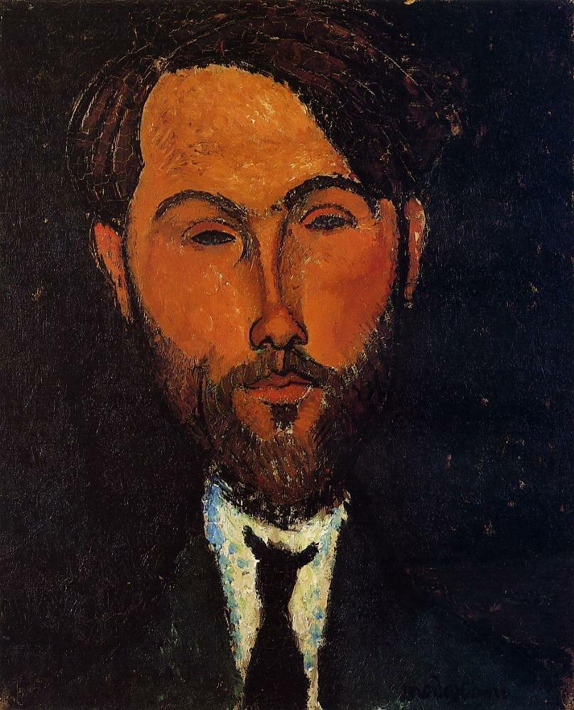 Portrait of Leopold Zborowski - 1917-18 - PC - Painting - oil on canvas.jpeg