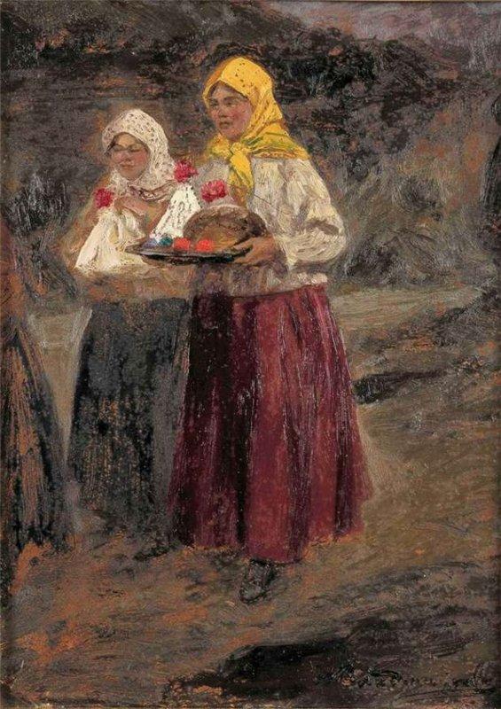 Владимиров Иван Алексеевич (1869 - 1947) - С заутреней // Ivan Vladimirov - After the morning service