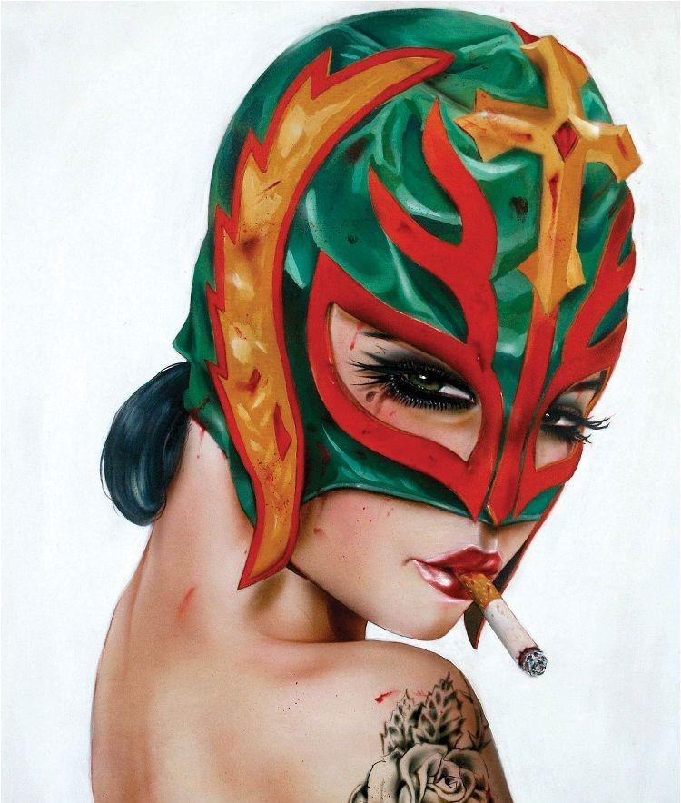 Девушки с сигаретой в зубах Брайан Виверос