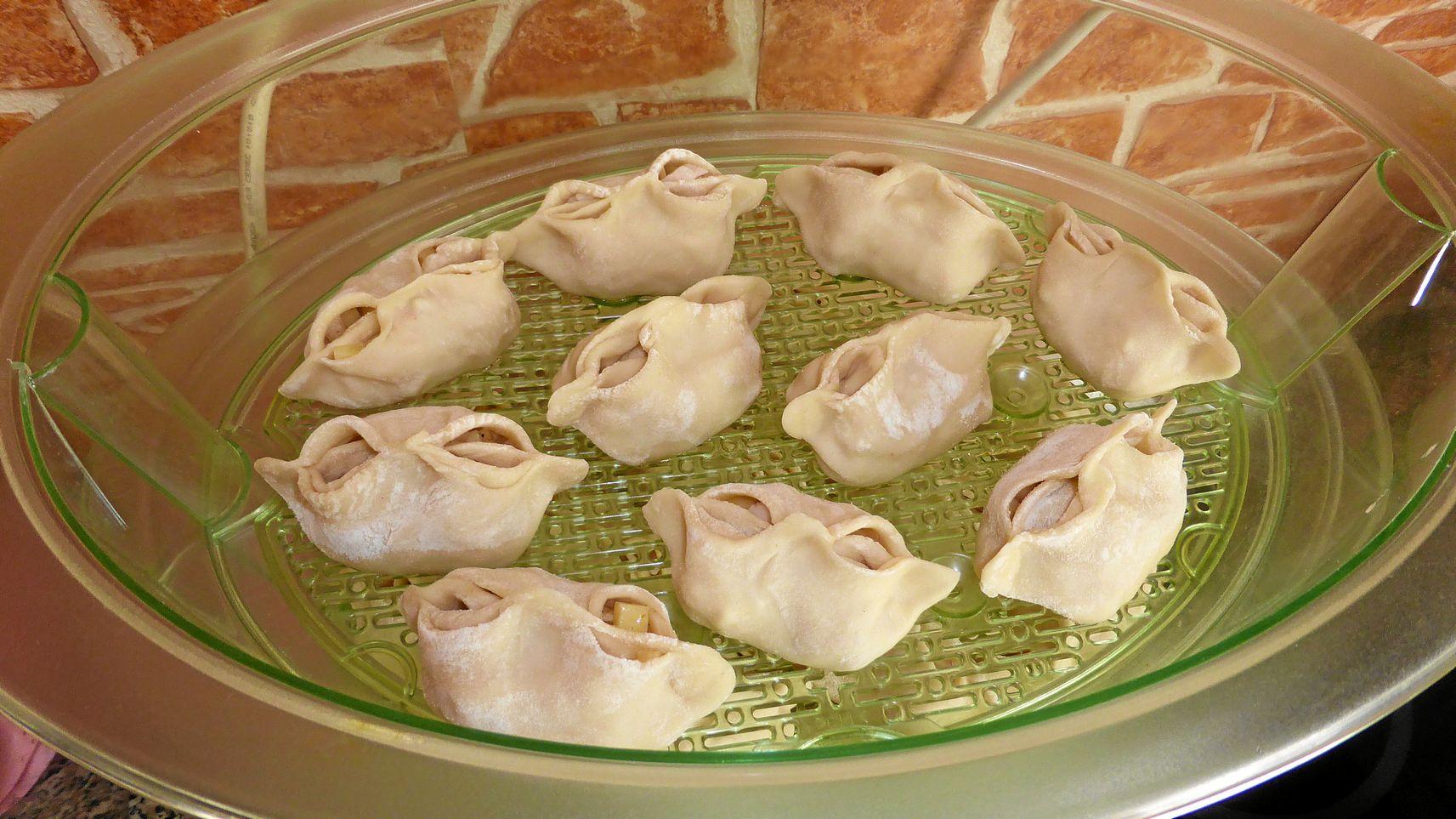 Манты с картошкой и салом пошаговый рецепт с
