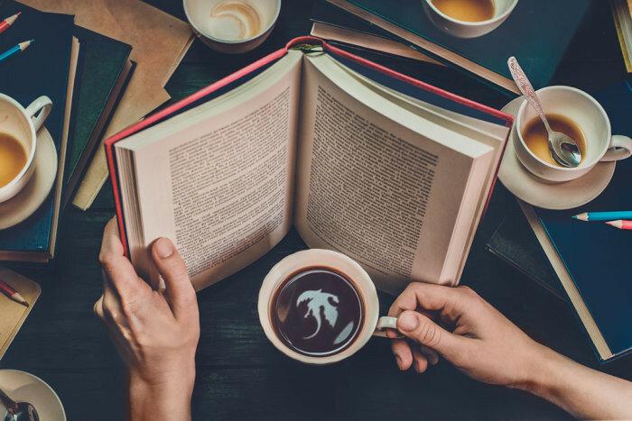 Осень - время книг. Кофе для мечтателей (Coffee for dreamers). Автор работ: Дина Беленко (Dina Belenko).
