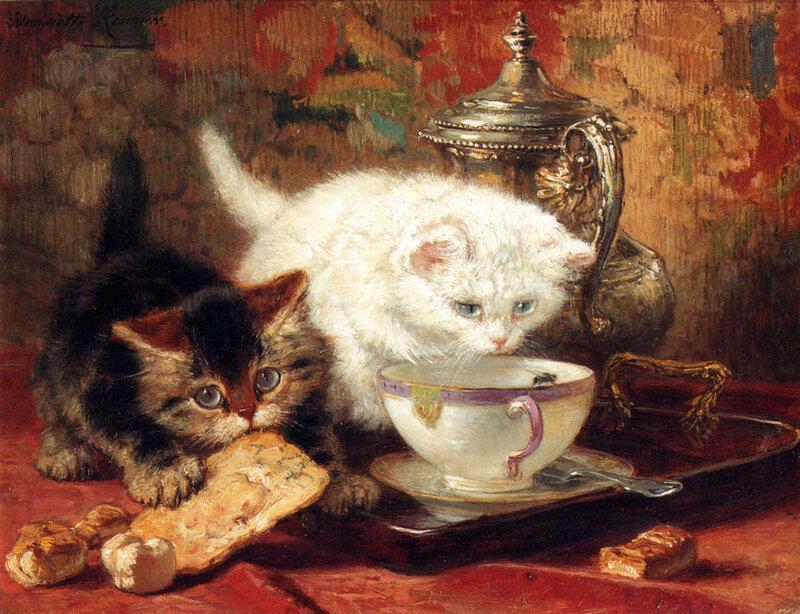 +++2002Henriette Ronner-Knip (1821-1909)  high_tea-large.jpg