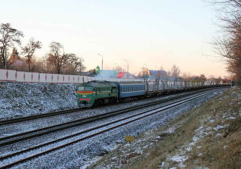 М62-1703 на перегоне Гомель - Новобелицкая