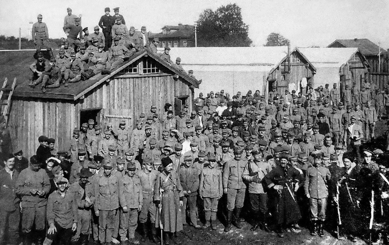 Пленные австрийцы в Соломбале. 1915