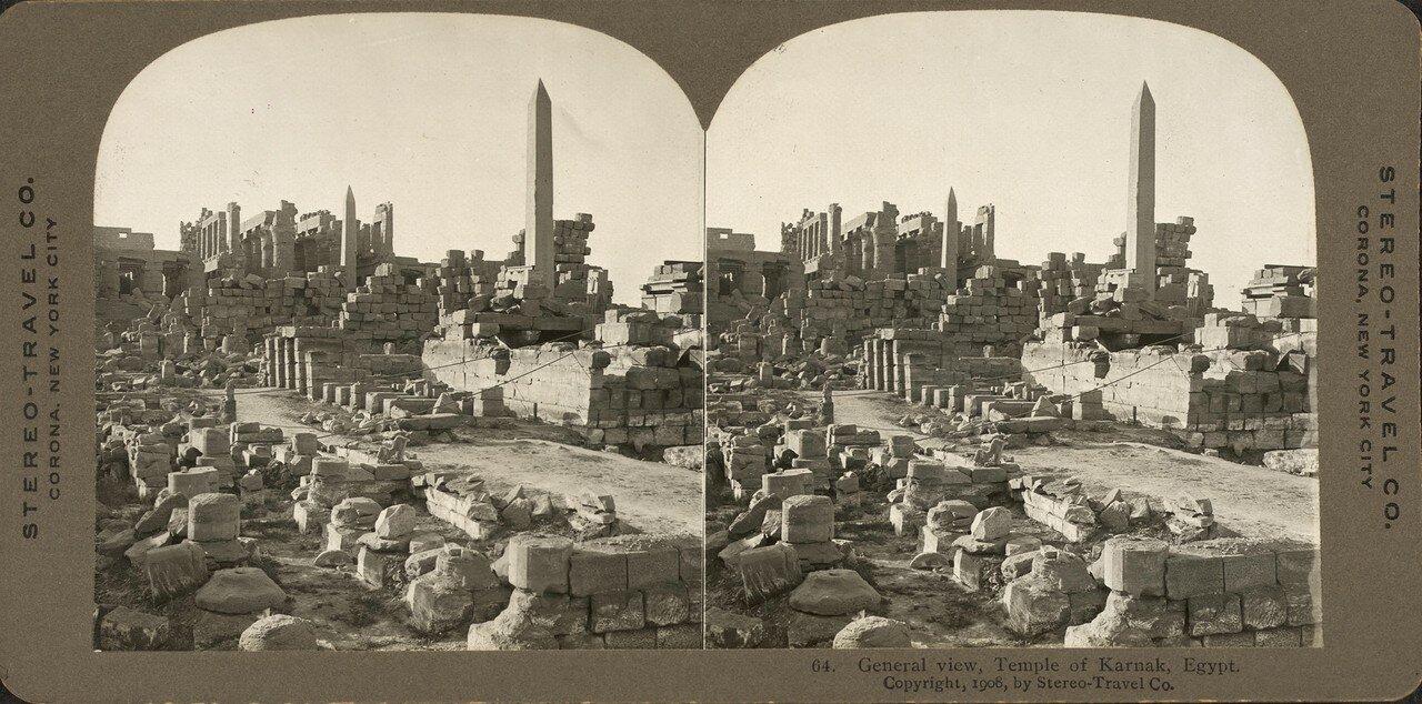 Карнак. Общий вид Храма. 1908
