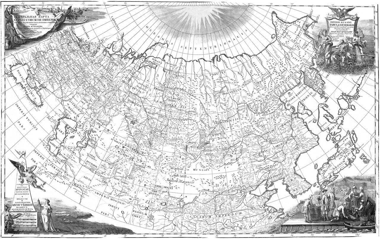35. Генеральная карта Российской Империи