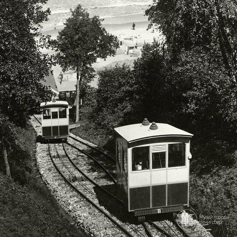1930с Раушен Спуск к морю на вагончиках.jpg