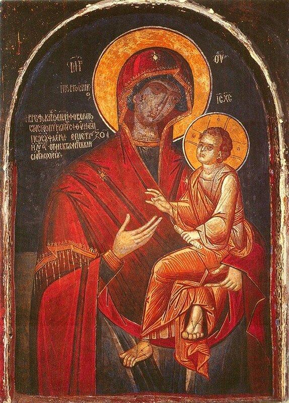"""Икона Божией Матери """"Скоропослушница"""". Монастырь Дохиар на Афоне."""
