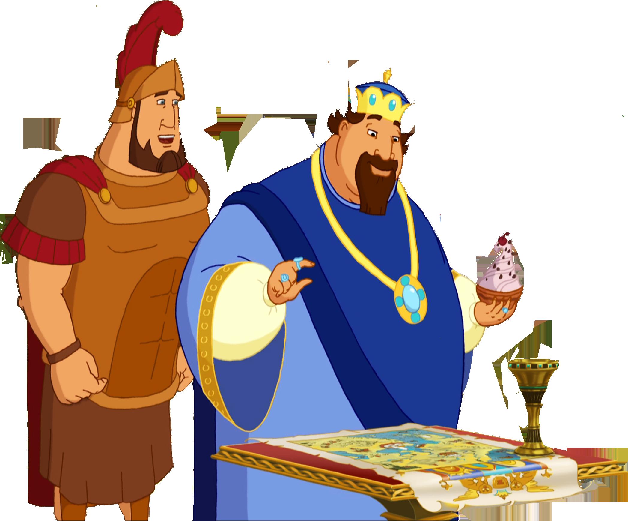 Шуточное поздравление от трех богатырей
