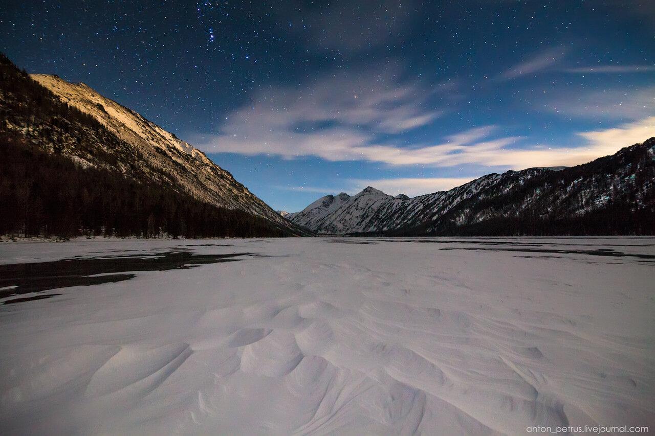 Зимний Алтай. Ночная Мульта