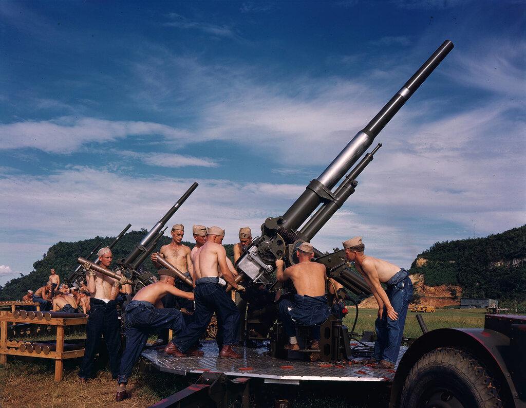 Anti-aircraft, pre-war, San Juan, Puerto Rico, 1939
