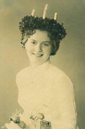 Lucia Gea Hägg (married Vikström), Jakobstad, 1957.