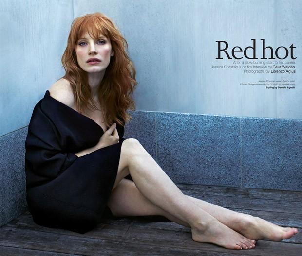 Джессика Честейн (Jessica Chastain) в журнале The Telegraph (3 фото)