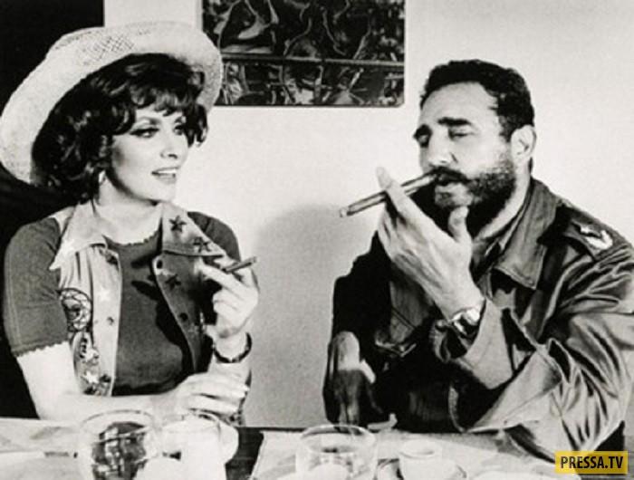 """Джина Лоллобриджида и Фидель Кастро. После этого Джина сняла еще несколько документальных фильмов: """""""