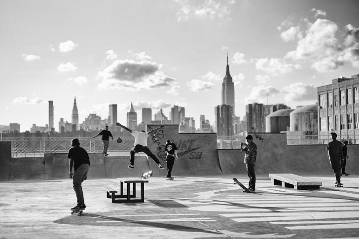Скейтеры в Бруклине