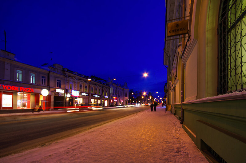 По вечернему Томску