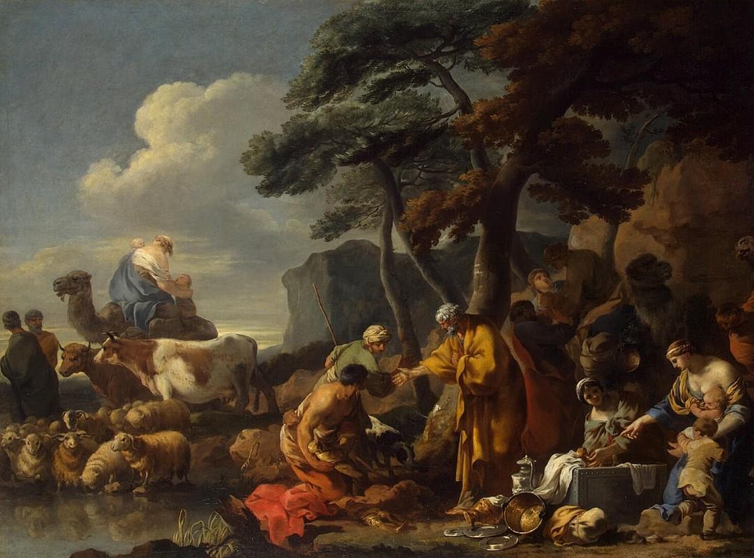 Себастьян Бурдон, Иаков зарывает идолов в землю под Сихемским дубом, Холст, масло, 95x129 см, 17 в.