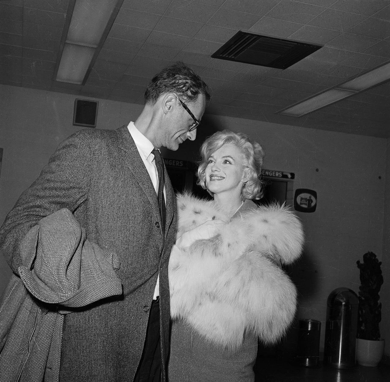 Actress Marilyn Monroe and her Husband