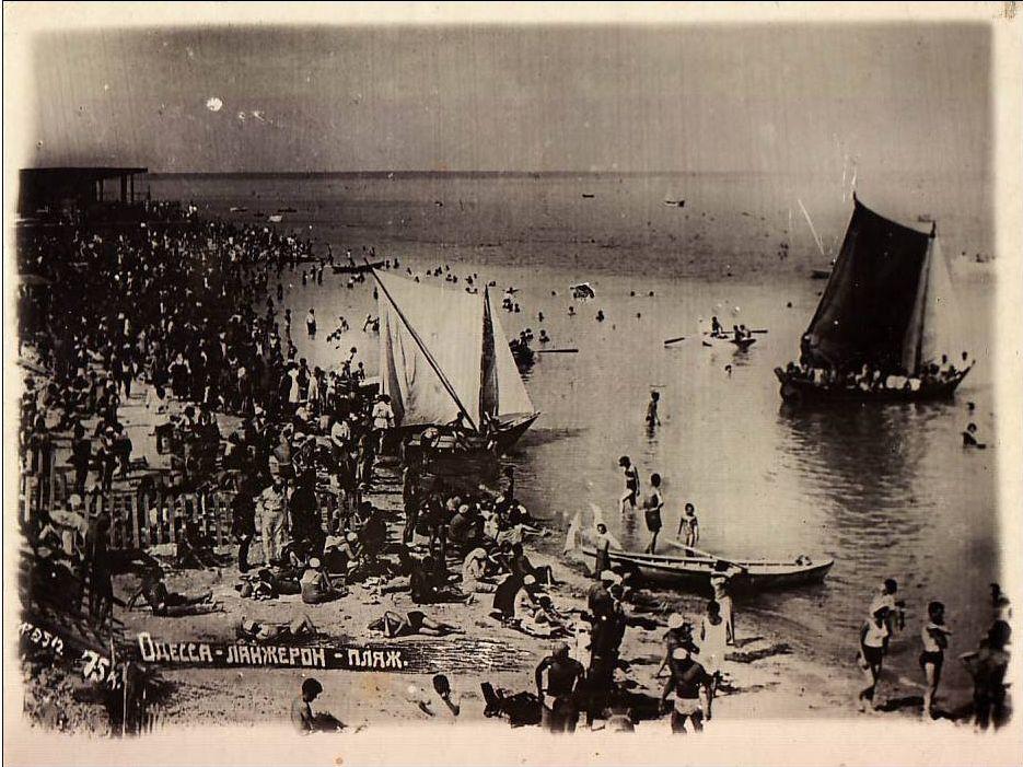 Langeron beach in Odessa, late 1920s - early 1930s.jpg