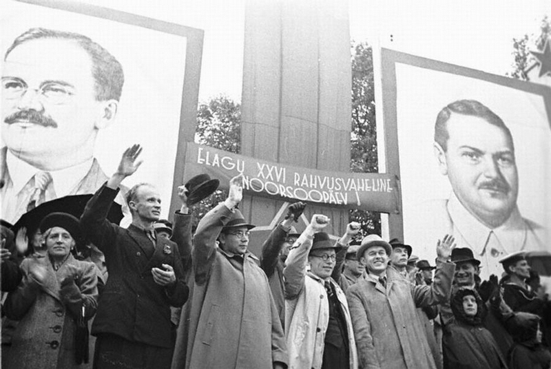 Митинг в Таллинне.