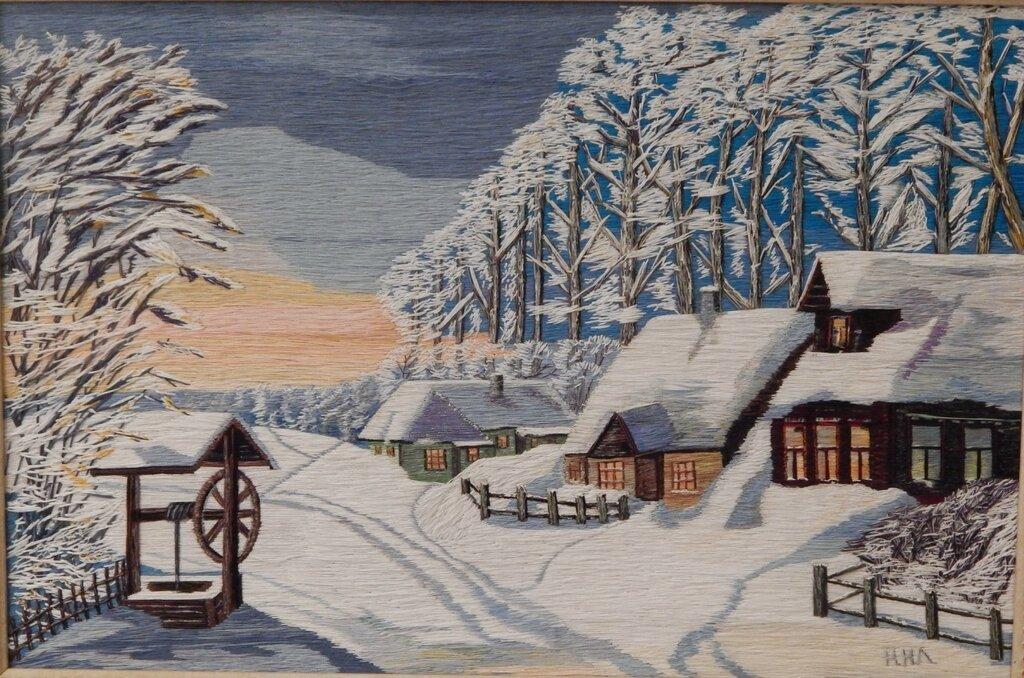 Зимняя деревня картинки нарисованные, сестре летием