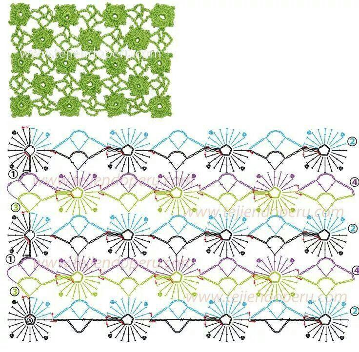 Непрерывное вязание схемы крючок 9