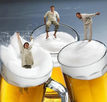 Поздравление с днем пивовара. В пиве и пене