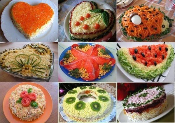 Подборка вкусных салатов для праздничного стола
