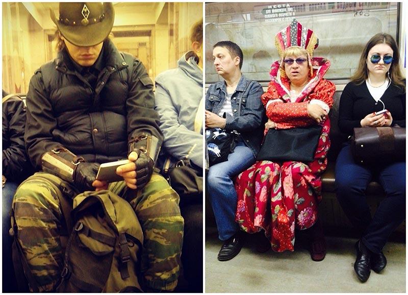 Модные люди московского метро (39 фото)